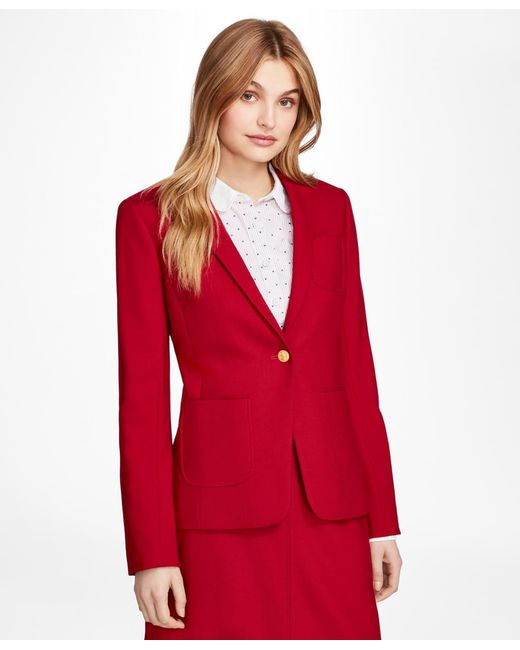 Brooks Brothers   Red Wool-blend Patch-pocket Blazer   Lyst
