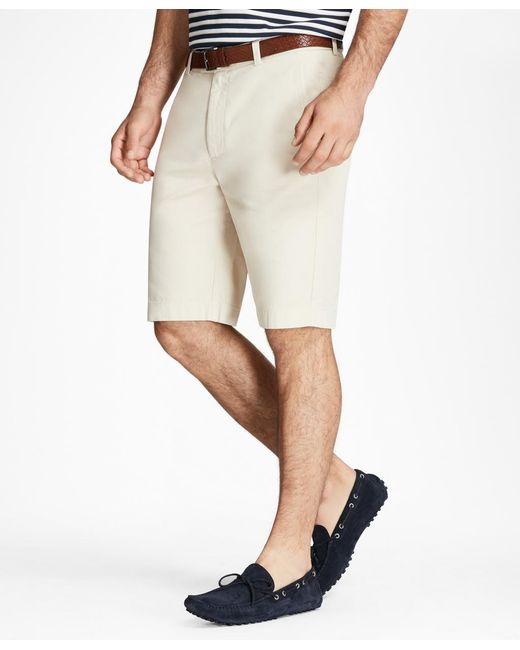 """Brooks Brothers - Natural Garment-dyed 10"""" Bermuda Shorts for Men - Lyst"""