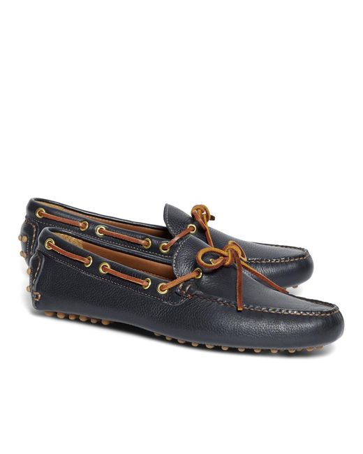 Brooks Brothers - Blue Tie Driving Moccasins for Men - Lyst