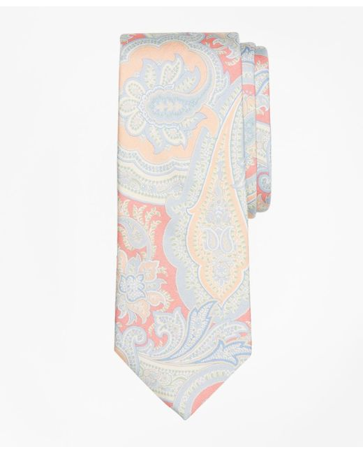Brooks Brothers - Multicolor Paisley Print Tie for Men - Lyst