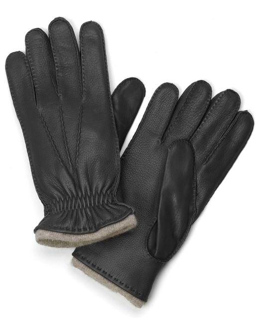 Brooks Brothers - Black Deerskin Cashmere Lined Gloves for Men - Lyst