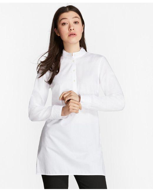 Brooks Brothers | White Non-iron Dobby-stripe Cotton Tunic | Lyst