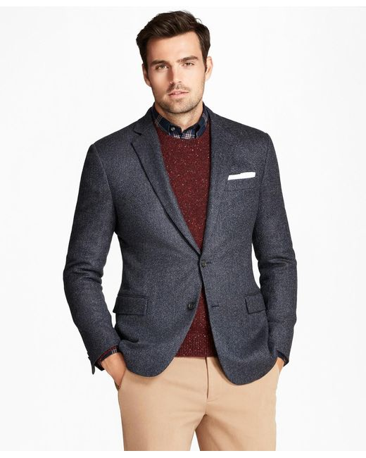 Brooks Brothers - Blue Regent Fit Herringbone Sport Coat for Men - Lyst