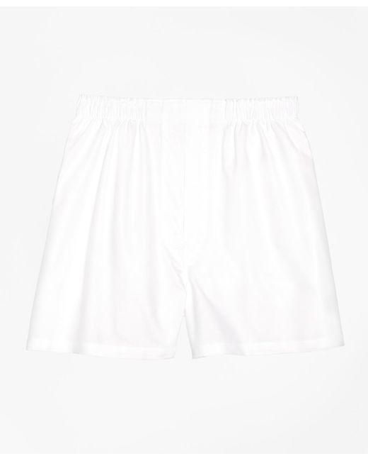Brooks Brothers - White Traditional Fit Oxford Boxers for Men - Lyst