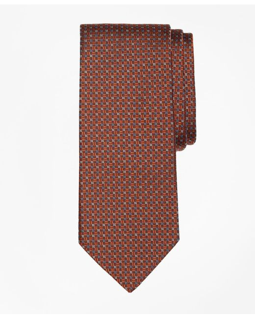 Brooks Brothers - Orange Solid-non-solid Square Tie for Men - Lyst