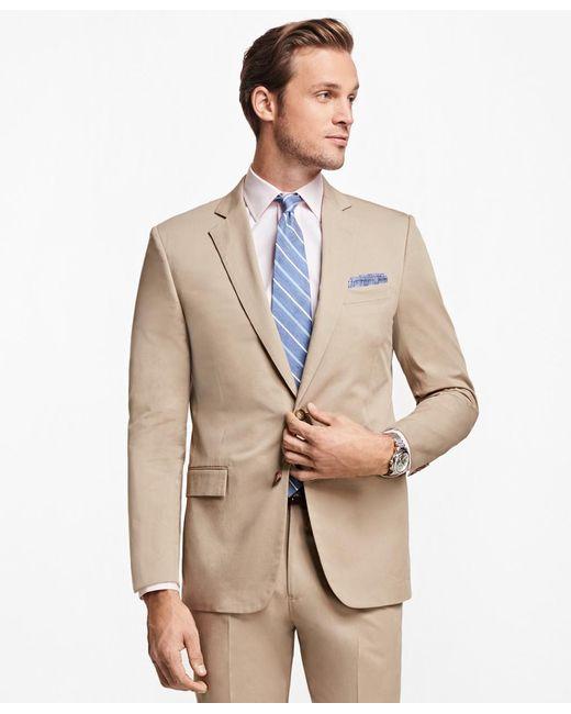 Brooks Brothers - Natural Regent Fit Stretch Cotton Suit for Men - Lyst