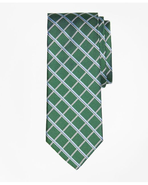 Brooks Brothers   Green Textured Windowpane Tie for Men   Lyst