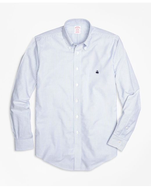 Brooks Brothers - Blue Non-iron Madison Fit Oxford Stripe Sport Shirt for Men - Lyst