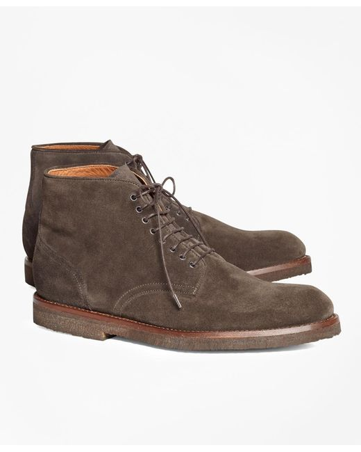 Brooks Brothers | Brown Suede Boots for Men | Lyst