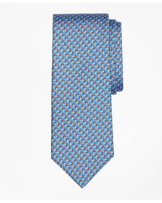 Brooks Brothers | Blue Windboard Print Tie for Men | Lyst