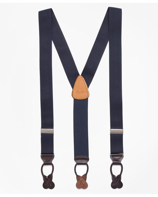 Brooks Brothers - Blue Solid Suspenders for Men - Lyst