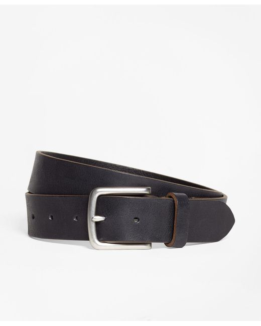 Brooks Brothers - Brown Leather Belt for Men - Lyst