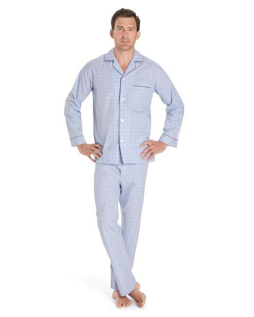 Brooks Brothers - Blue Glen Plaid Pajamas for Men - Lyst