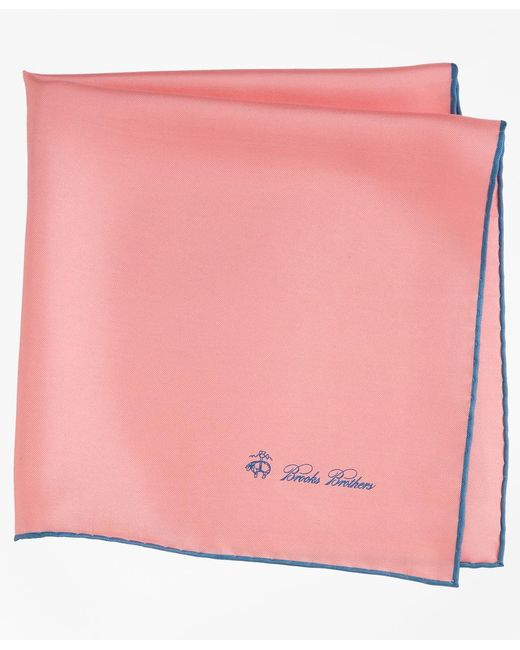 Brooks Brothers - Pink Silk Pocket Square for Men - Lyst