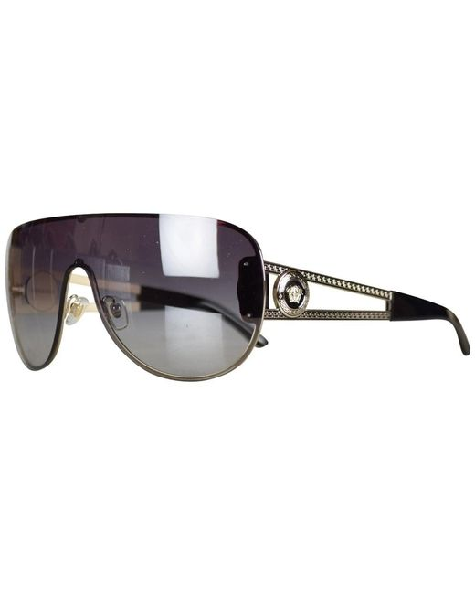 c0c1b61e791c Lyst - Versace Black Medusa Aviator Sunglasses in Black for Men