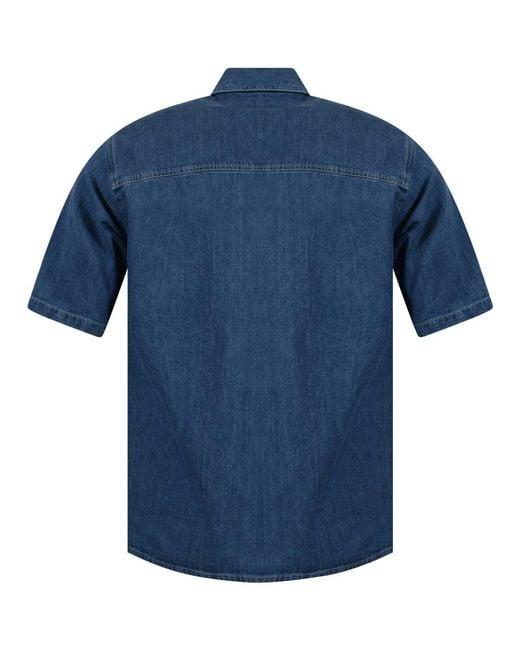 f6d36c11da2 ... AMI - Blue Oversized Denim Shirt for Men - Lyst ...