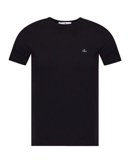 Vivienne Westwood - Black Orb Logo T-shirt for Men - Lyst