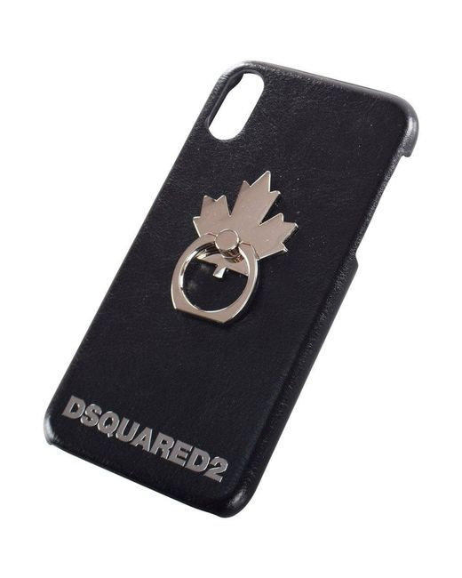 DSquared² - Black Maple Leaf Iphone X Case for Men - Lyst