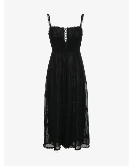 Zimmermann - Black Strappy Corset Jumpsuit - Lyst