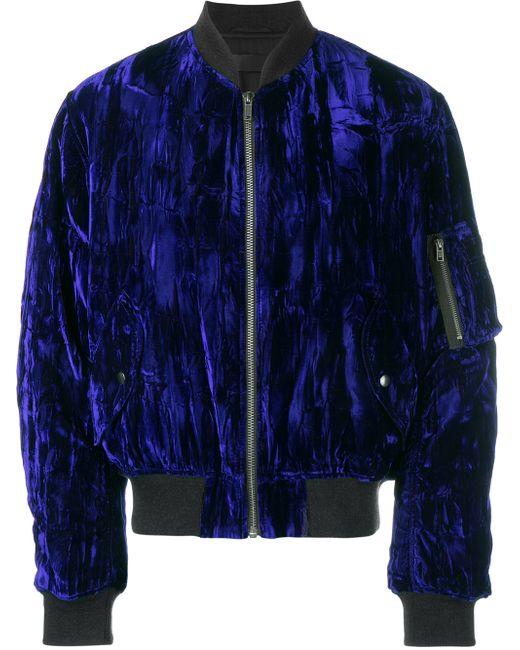 Haider Ackermann Velvet Bomber Jacket In Blue For Men | Lyst