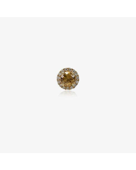 Rosa De La Cruz - Metallic White Diamond Single Stud Earring - Lyst