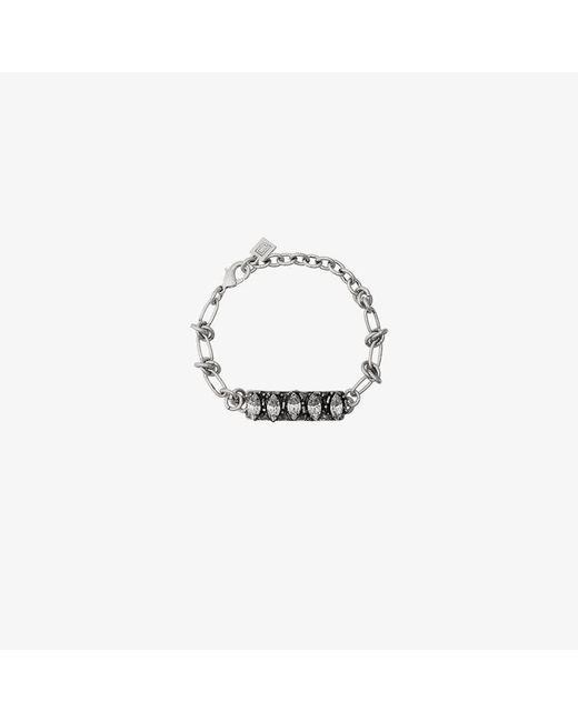 DANNIJO - Metallic Silver Linsala Swarovski Crystal Bracelet - Lyst