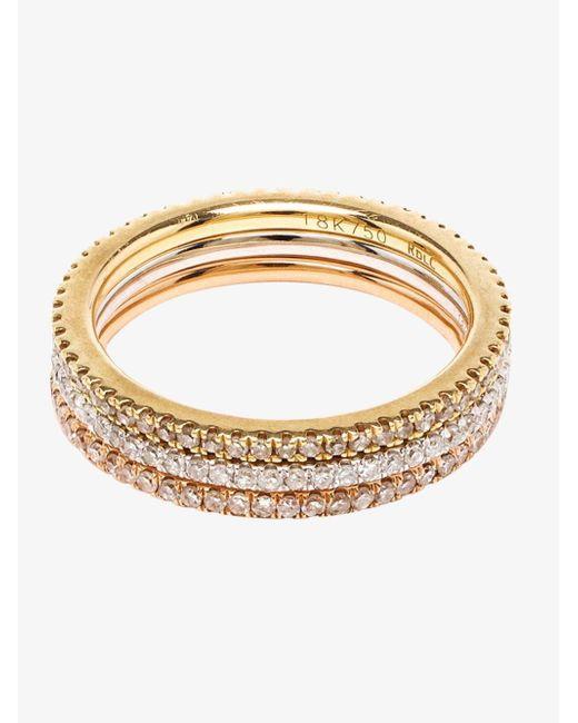 rosa de la 18k white gold midi ring in