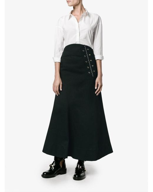 ellery a line maxi skirt in black save 13 lyst