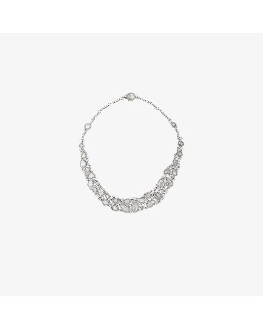 Saqqara   Metallic 18kt White Gold And Diamond Necklace   Lyst