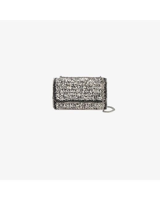 Stella McCartney | Black Woven Falabella Shoulder Bag | Lyst