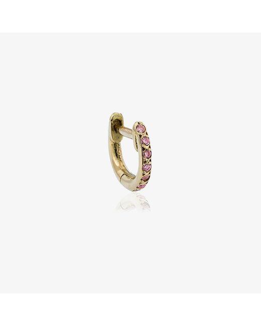 Ileana Makri | Metallic Rose Gold Mini Hug-hoop Earrings | Lyst