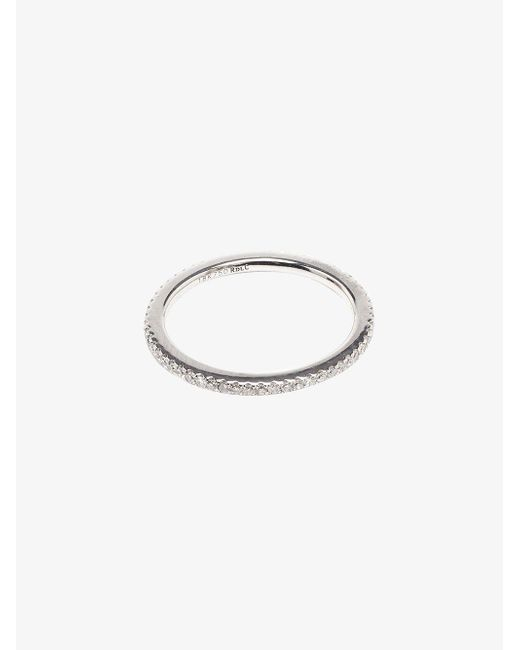 Rosa De La Cruz - White Rose Gold Diamond Midi Ring - Lyst