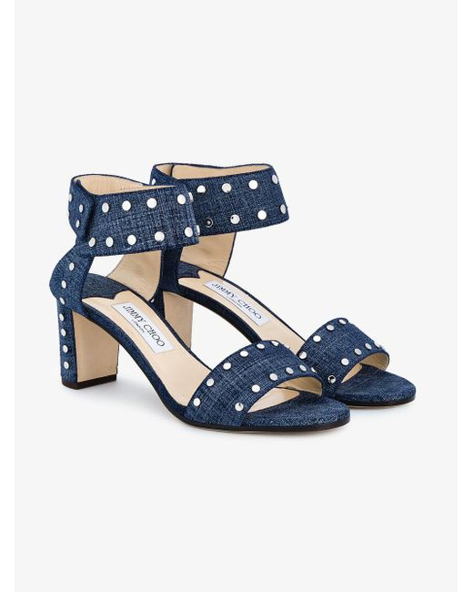 Jimmy Choo - Blue Veto 65 Denim Sandals - Lyst