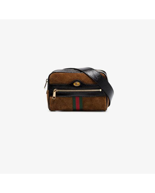 Gucci - Brown Ophidia Small Suede Belt Bag - Lyst
