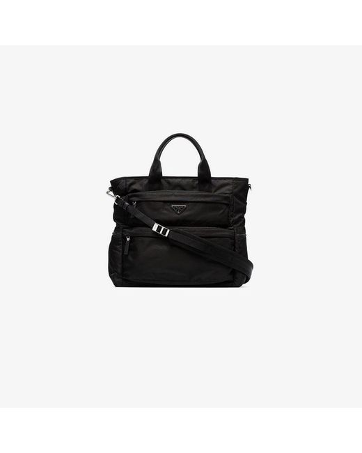 Prada - Black Multi Pocket Tote Bag for Men - Lyst