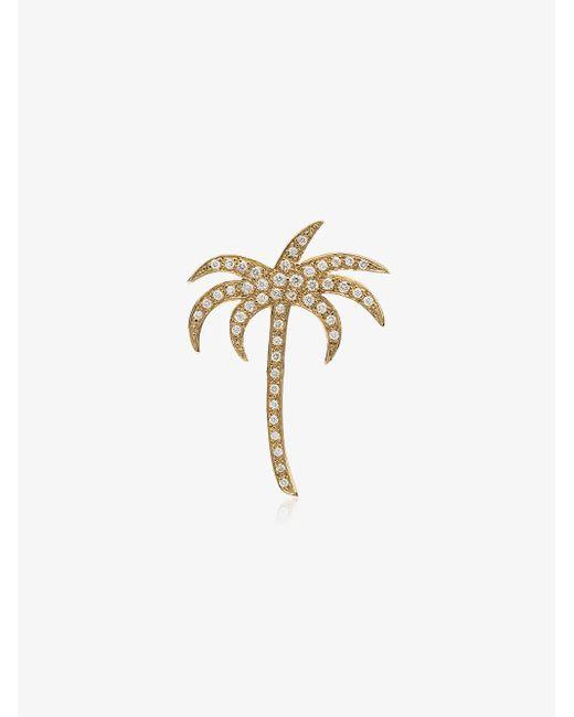 Ileana Makri - Metallic Diamond Palm Pendant Necklace - Lyst