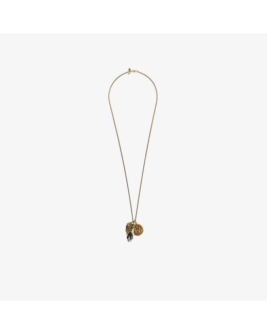 Alexander McQueen | Metallic Portoro Stone And Medallion Necklace | Lyst