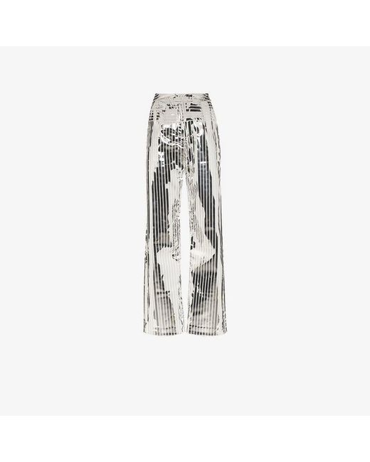 Matériel - Space Metallic Stripe Wide Leg Trousers - Lyst