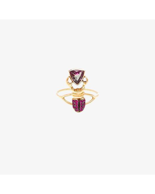 Daniela Villegas   Multicolor Kephri 18k Gold, Sapphire And Tourmaline Ring   Lyst