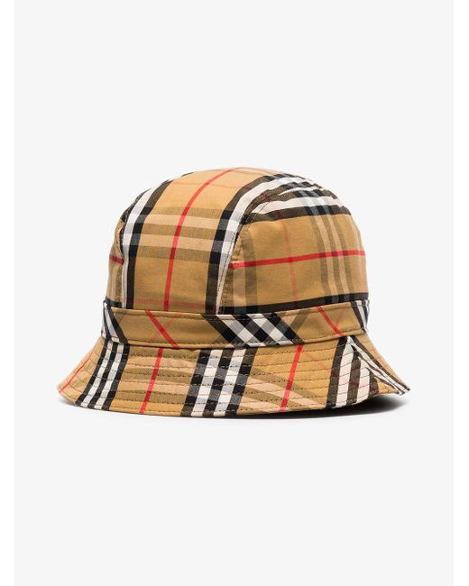 b219ccb7949 ... Burberry - Multicolor Multicoloured Vintage Check Cotton Bucket Hat for  Men - Lyst ...