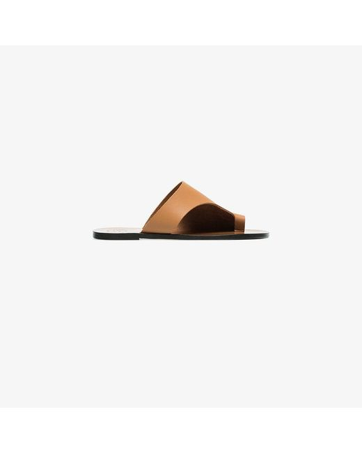 Atp Atelier - Brown Rosa Cut Out Leather Sandals - Lyst