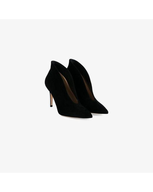 Gianvito Rossi - Black Suede 85 Vamp Boots - Lyst