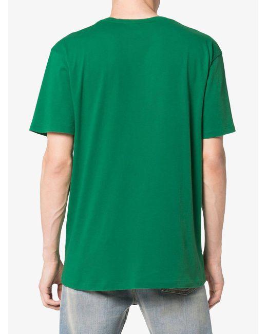 0d19ac68b88 ... Gucci - Green Baby Print Logo Short Sleeve T-shirt for Men - Lyst ...