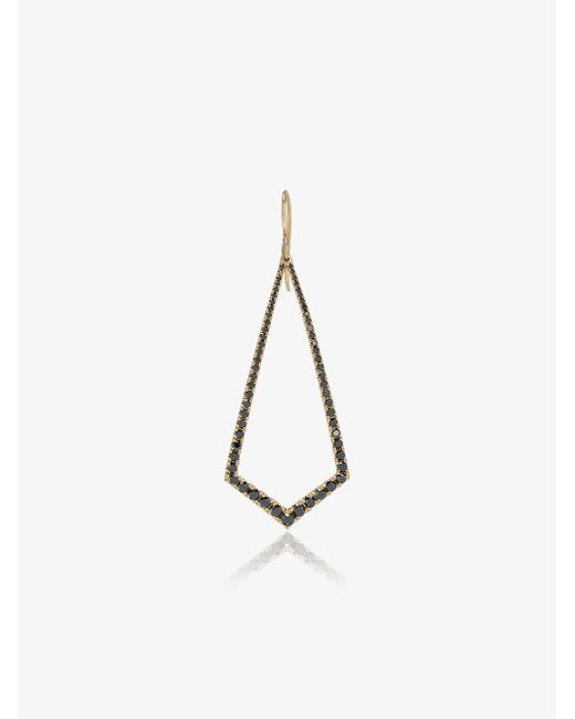 Lizzie Mandler - Metallic 18k Gold And Black Diamond Drop Earrings - Lyst