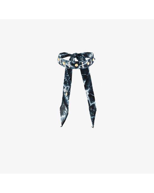 DANNIJO | Black Moonza Tie Dye Bandana Choker | Lyst