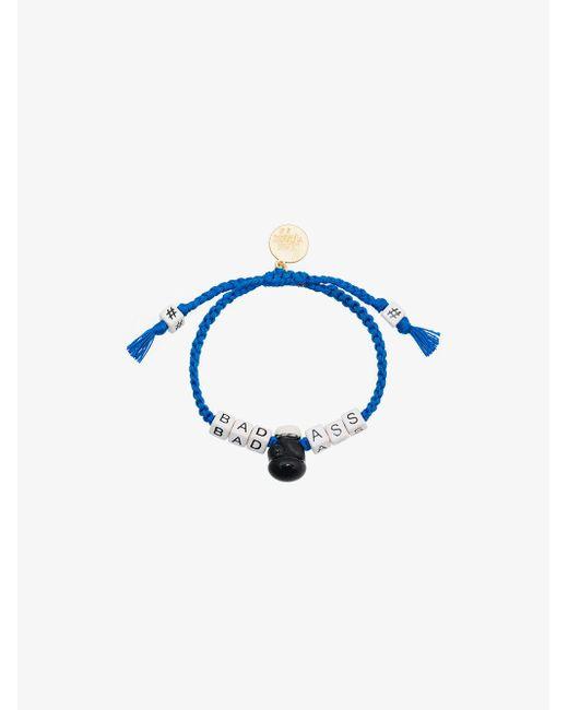Venessa Arizaga - Blue Badass Slogan Bracelet - Lyst