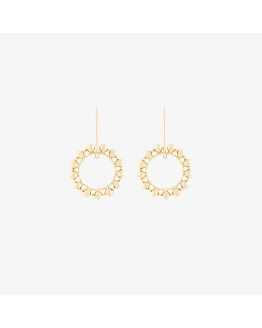 DANNIJO | Metallic Fawn Double Hoop Earrings | Lyst