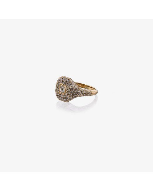 SHAY - Metallic 18k Yellow Gold Buckle Diamond Ring - Lyst