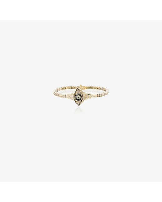 Established - Metallic 18kt Yellow Gold Evil Eye Bracelet - Lyst