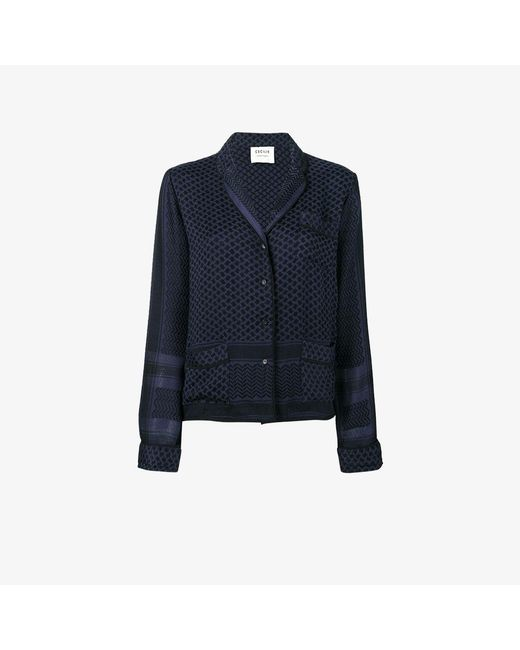 Cecilie Copenhagen | Blue Keffiyeh Print Pyjama Shirt | Lyst
